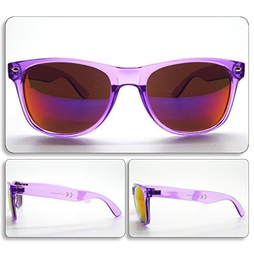 see vision Sonnenbrille Sunglasses Herren Damen Unisex lila Wayfarer Purple Art. 007