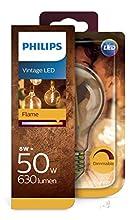 Philips Lighting Lampadina Vintage LED Classico effetto fiamma, E27, 8W=50W, 2200 K