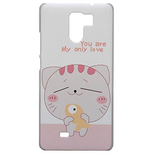 Guran® Hart Plastik Schutzhülle Case Cover für UMI Fair Smartphone Cartoon Hülle Etui-Katze