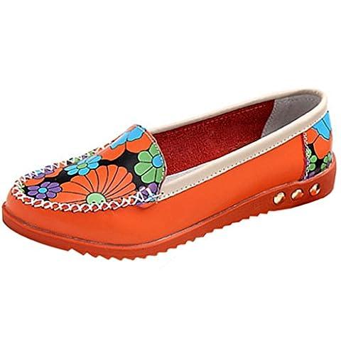 OverDose Women Loafers Slip On Comfortable Anti-slip Flat Shoes