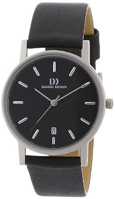Danish Design Titan 3316261 - Reloj de caballero de cuarzo, correa de piel color negro de Danish Design
