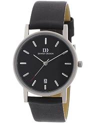 Danish Design - 3316261 - Montre Homme - Quartz - Analogique - Bracelet cuir noir