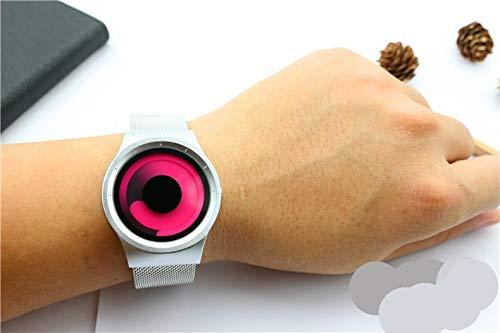 GRCSGL Chao Männer Cosmic Stern Swirl kein Zeiger Konzept Uhr Mode lässig kreative Mann Frau Liebhaber Uhr, Whirlpool