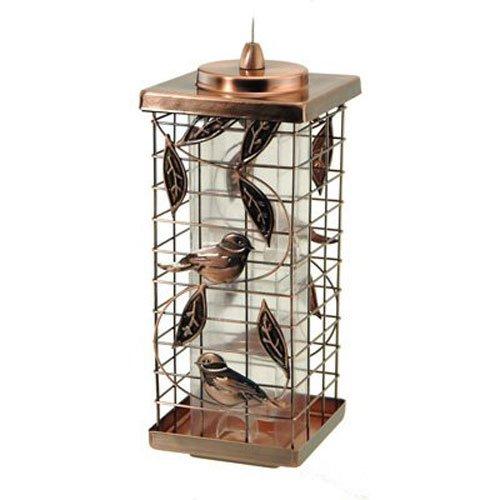 Audubon / Woodlink Tube cage Feeder Avec de conception de feuille d'argent NA35329