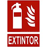 CIEFU-Cartel de extintor Señalizacion fotoluminiscente (295×210mm)