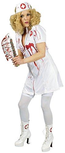 �-rot Damen blutige Krankenschwester Zombie Kostüm Gr.36-38 ()