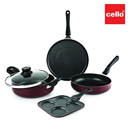 Cello Prima Uttapam Non Stick Combo, Cherry