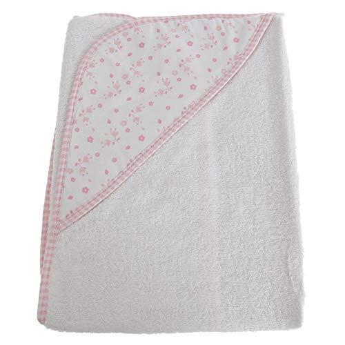 ndtuch mit Kapuze, Blumen-Muster (75 x 75 cm) (Pink) ()