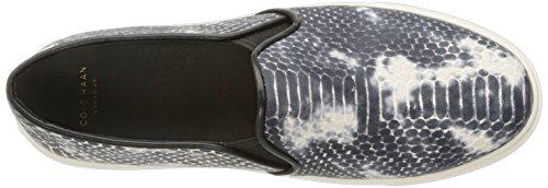 Cole Haan Bowie Slip-on Fashion Sneaker Black/Vanilla Snake Print