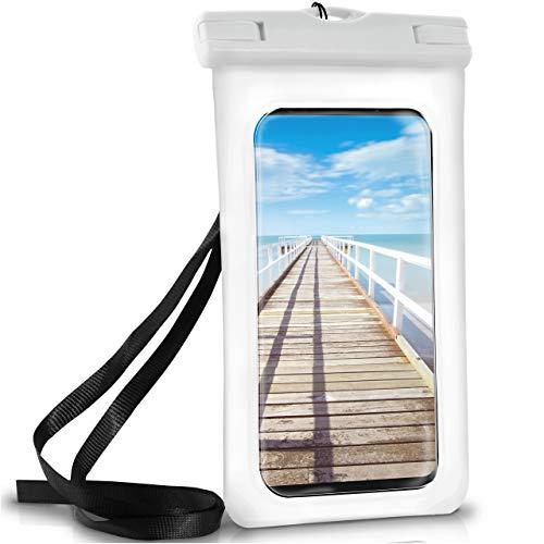 ONEFLOW Wasserdichte Hülle Samsung Galaxy | Full Cover in Weiß 360° Unterwasser-Gehäuse Touch Schutzhülle Handy-Hülle für Galaxy S9 S9 Plus S8 Plus S7 Edge S6 S5 Mini UVM Case Handy-Schutz