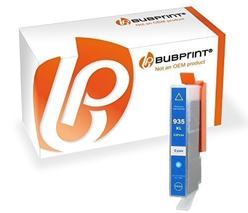 Bubprint Druckerpatrone kompatibel für HP 935XL 935 XL für OfficeJet 6800 Series 6815 6820 6822 6825 Pro 6200 Series 6230 6235 6239 6830 6835 Cyan