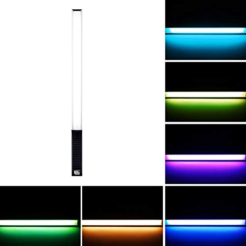 deoleuchte RGB Bunt Fotografie Licht füllen - Handheld Außenaufnahme Video RGB Fotografie LED Stick, Fotografie Studio-Video-Filmen Licht Hochzeit, 1000 Lumen 3000K-5700K ()