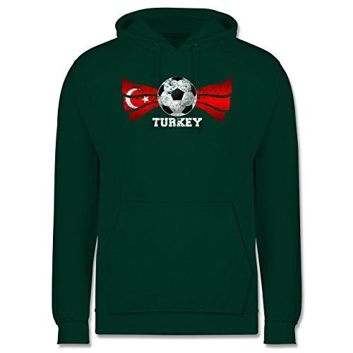 EM 2016 - Frankreich - Turkey Fußball Vintage - Männer Premium  Kapuzenpullover / Hoodie Dunkelgrün