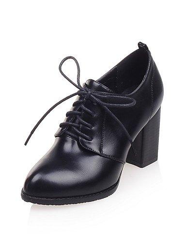 WSS 2016 Chaussures Femme-Habillé-Noir / Rouge / Blanc-Gros Talon-Talons / Bout Pointu-Talons-Similicuir white-us6.5-7 / eu37 / uk4.5-5 / cn37
