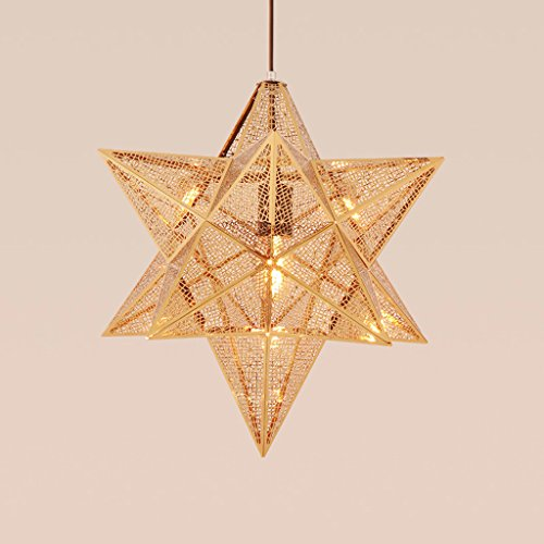 Creative étoiles d'or boîte pendentif Tom Dixon Etch Shade Chandelier Lighting