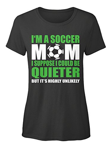 Stylisches T-Shirt Damen von Teespring | Originelles Outfit für jeden Anlass und lustige Geschenksidee - Soccer Mom (Mom Soccer)