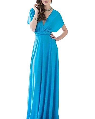 Vestiti Donna Vestiti da Sera Eleganti Vestito da Sera Lungo Abiti da Cocktail Acqua Blu S