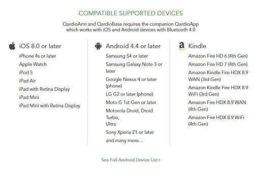 9c8b5f2fe6a ... QardioArm -Tensiómetro Inalámbrico para iOS y Android, Color Blanco  Polar ...
