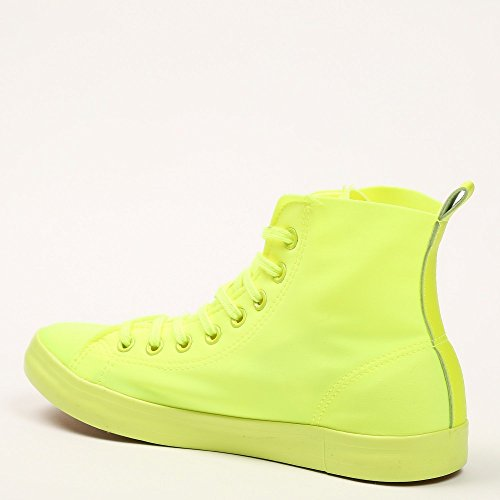 Ideal Shoes - Baskets montantes en toile Evelyna Jaune