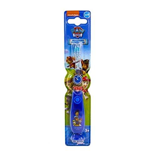 Brosse à dents lumineuse bleu à ventouse Pat Patrouille