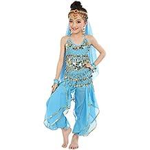 FEITONG Hecho a mano Niña niña Danza del vientre Disfraces Niños Danza del vientre Paño de