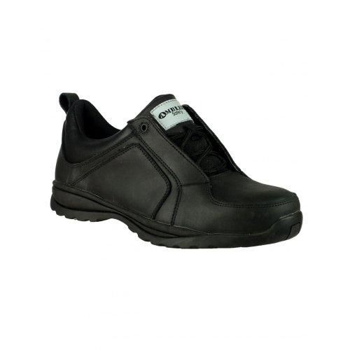 Amblers , Chaussures de sécurité pour femme Noir