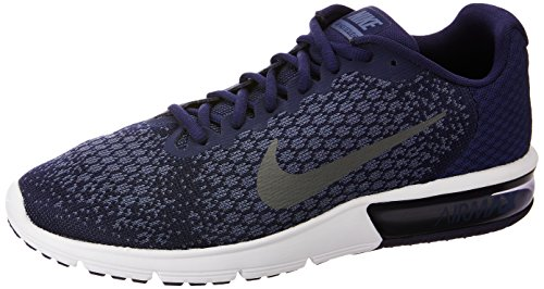 Nike Herren Air Max Sequent 2 Fitnessschuhe Mehrfarbig (Binary Blue Grey/Dark Obsidian 406), 44 EU -