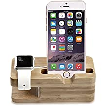 MoKo Apple Watch Serie 1 & 2 / iPhone Soporte - Portátil Base de Carga Dual Charging Stand Station Cradle Holder para Apple iWatch 38mm / 42mm 2015 & 2016, iPhone 7 / 7 Plus / iPhone 6S / 6S Plus