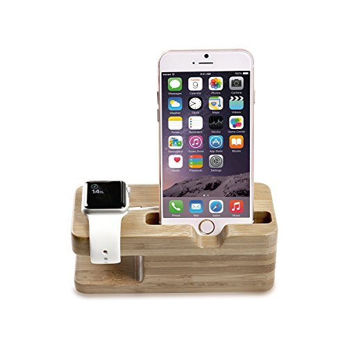 moko holz stand f r apple watch series 1 2 smart watch. Black Bedroom Furniture Sets. Home Design Ideas