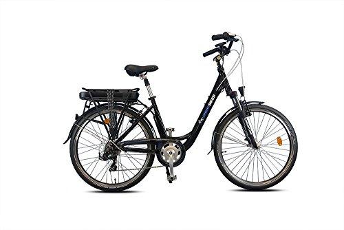 urbanbiker–Städtische Elektrofahrrad Akku mit 13Ampere im Lowrider Glanz, Schwarz