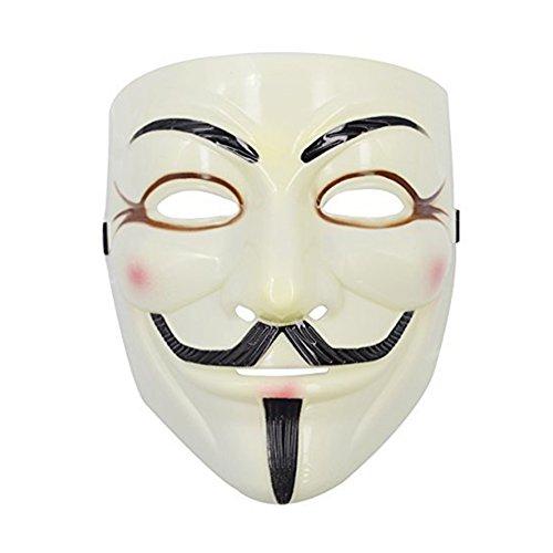 ruikey V Maske für Vendetta Guy Dance Anonymous Fancy Cosplay Kostüm
