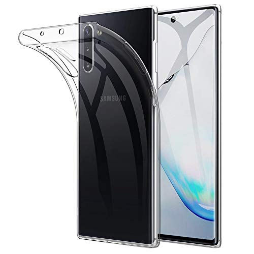 Beetop Samsung Galaxy Note 10+ Plus 5G Hülle Schutzhülle Ultradünn Handyhülle Transparent Weiche Silikon TPU Rückschale Case Cover für Samsung Galaxy Note 10+ Plus - Durchsichtig