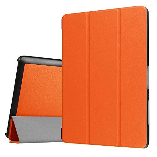 Schutzhülle für Acer Iconia One Tab 10 B3-A30 / A3-A40 10.1 Zoll Smart Slim Case Book Cover Stand Flip (Orange) NEU