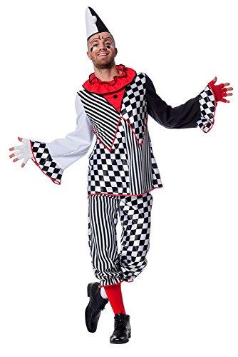 Herren Kostüm Pierrot Clown Harlekin Karneval Fasching Gr.48 (Herren Pierrot Kostüm)