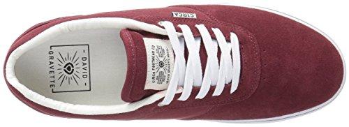 C1RCA - Gravette, Scarpe da ginnastica Unisex – Adulto Rosso (Rot (Brick White))