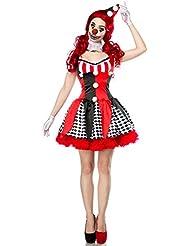 Atixo Horror Clown Komplettset - rot/schwarz/weiß