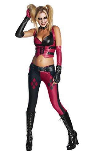 Kostüm für Damen, Größe:M (Harley Quinn Arkham City-halloween-kostüm)