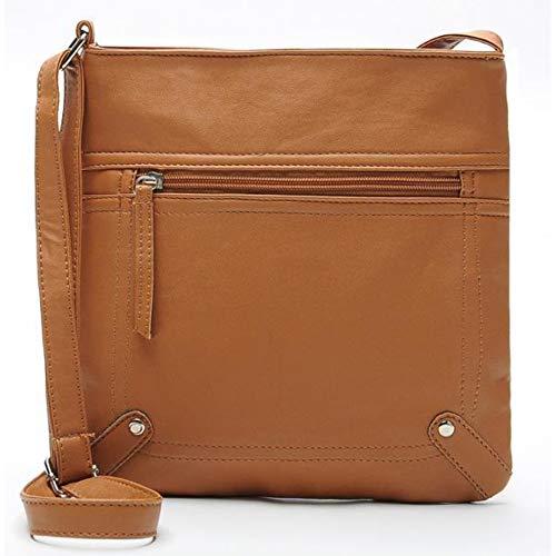 SJGBB Backpack Frauen Messenger Bags Frauen Bucket Bag Leder Crossbody Umhängetasche Handtasche Satchel (Handtasche Tan Satchel)