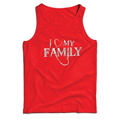 gartige Designer Hemden Zeigen Ihre Liebe - fantastisches zusammenpassendes Kleid der Familie (Medium Rot Mehrfarben) ()