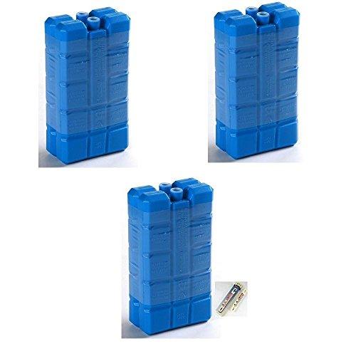 6 Kühlelemente Kühlakkus mit je 200g für Kühltasche Kühlbox etc. inkl. einem Kühl-  Gefrierschrankthermometer