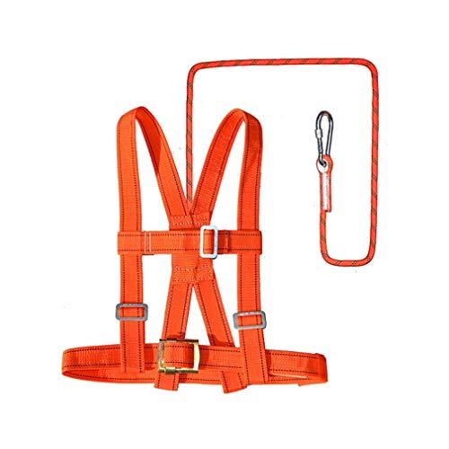 HANG Corda di Sicurezza Set 1.8M / 3M / 5M Corda Imbracatura per Mezzo Busto Protezione anticaduta Cintura di Sicurezza Arrampicata Resistente all'Usura Set con Serratura,A,1.8m