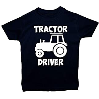 Acce Products Tractor Driver Baby/Children T-Shirt/Tops - 6-12 Months - Blue