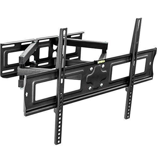 TecTake Support mural TV universel inclinable et pivotant pour écrans plats Vesa max. 600x400 32-65\