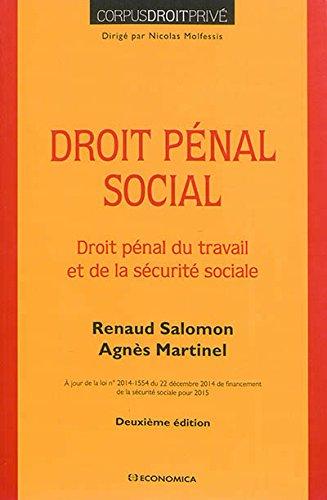 Traité de droit pénal social, 2e éd.