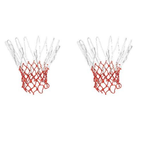 sourcingmap® 2 Stk. Außen Training Streichholz Weiß-rot Geflochtene Basketball-netz