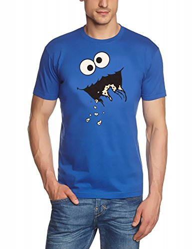 COOKIE MONSTER Sesamstrasse T-Shirt, GR.L