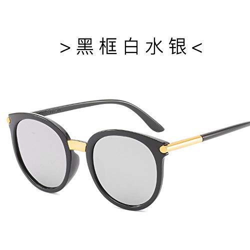 BHLTG Sonnenbrille-Mädchen-runde Art- und Weisepersönlichkeit-bunte Gläser Frau Large Frame Face Repair im Freiensport-Spielraum-Sonnenschutz Sunglasses-2