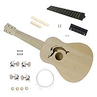 Sisit 21-inch Ukraini DIY Suit,Ukulele Hawaii Guitar DIY Kit Wooden Musical Instrument Beginner Kids Gift 21