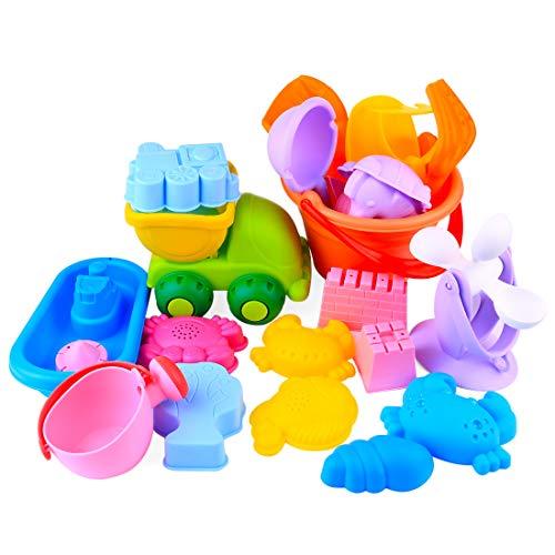 Preisvergleich Produktbild ZUJI 26er Set Sandspielzeug Mädchen und Junge Sommer Sandkasten Spielzeug aus Gummi Sandspielset für Kinder