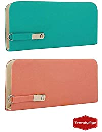 B2B Bags - Women's Combo Of 2 Clutches(Multicolor,Magnet), Clutches, Latest Women's Handbag And Clutch Combo,...